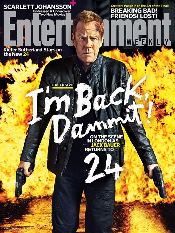 Kiefer Sutherland on Entertainment Weekly April 11, 2014 Issue