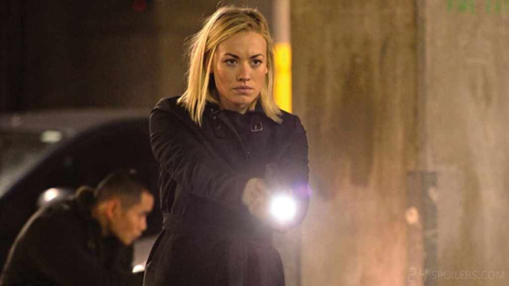Yvonne Strahovski plays CIA Agent Kate Morgan in 24: Live Another Day