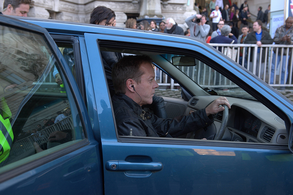 Kiefer Sutherland behind the scenes of 24: Live Another Day Episode 5