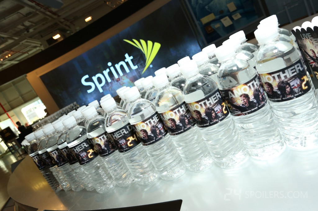 24: Live Another Day Premiere Screening in NYC - water bottles 2