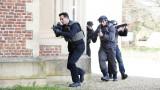 Steve Navarro (Benjamin Bratt) raids a secret location in 24: Live Another Day Episode 5