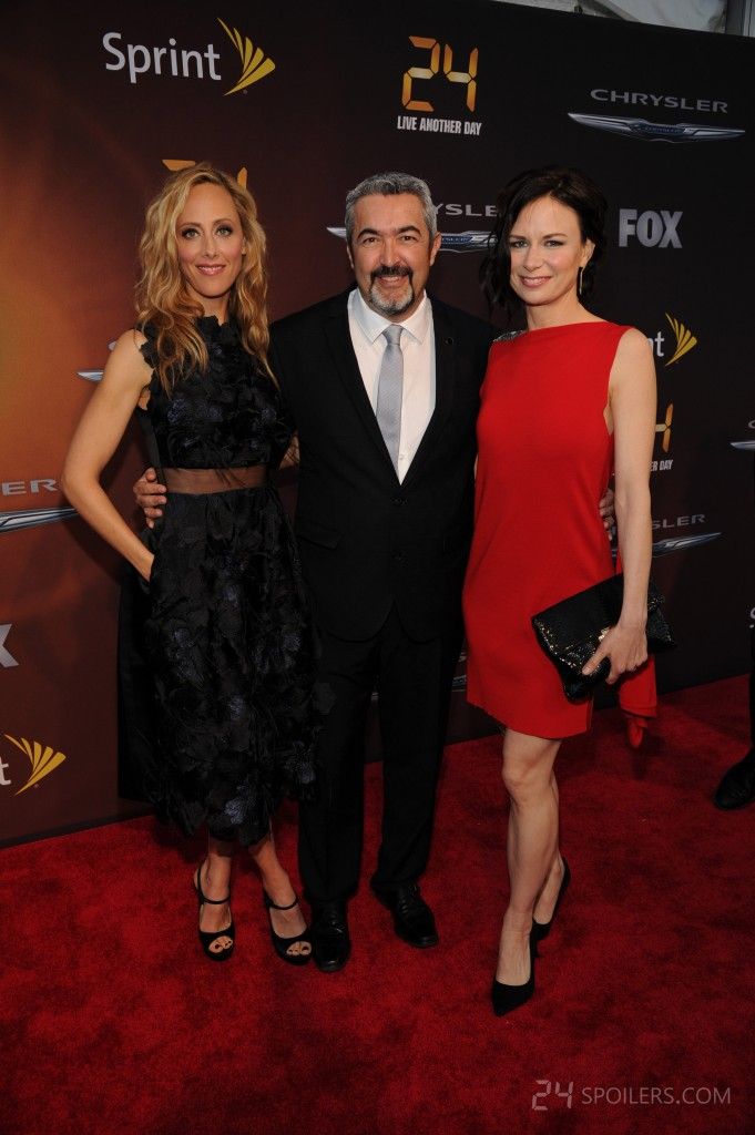 Kim Raver, Jon Cassar, and Mary Lynn Rajskub at 24: Live Another Day premiere