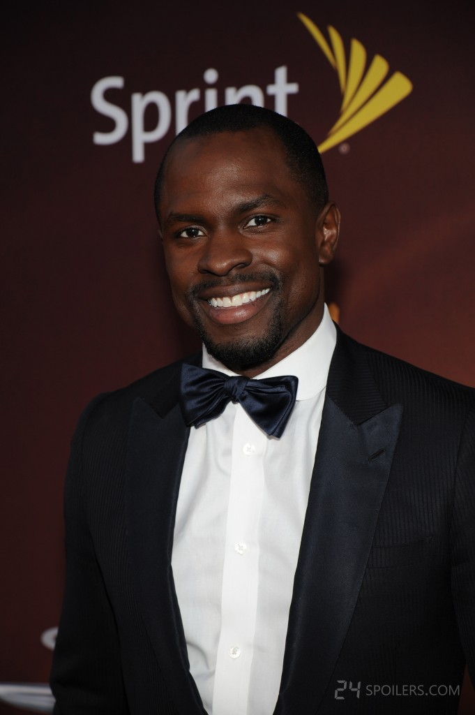 Gbenga Akinnagbe at 24: Live Another Day premiere screening