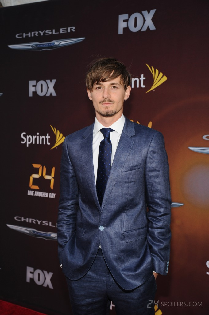 Giles Matthey at 24: Live Another Day premiere screening in NYC