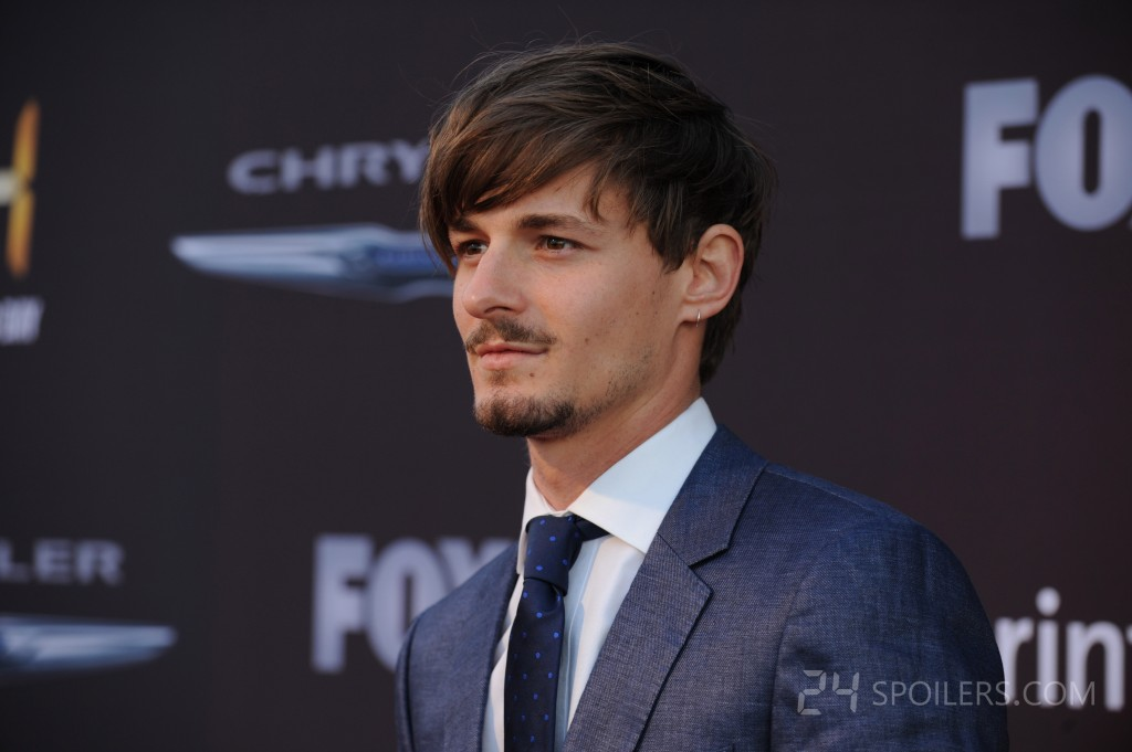 Giles Matthey at the 24: Live Another Day premiere screening in NYC