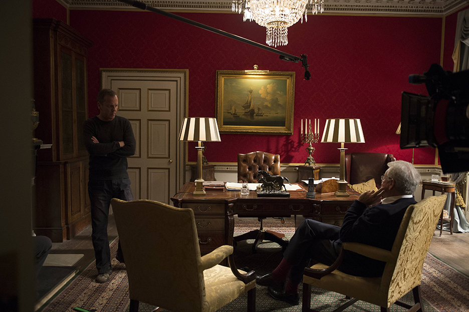 Jack Bauer and President Heller in 24: Live Another Day Episode 6 (Behind the Scenes)