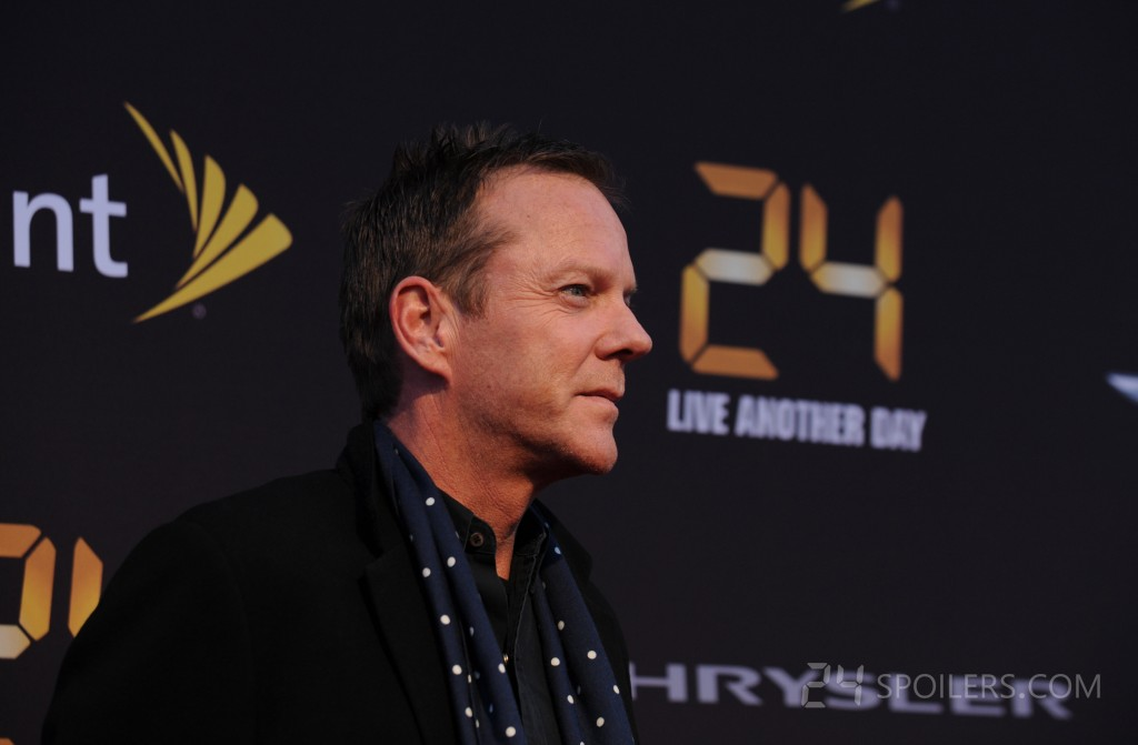 Kiefer Sutherland at the 24: Live Another Day premiere screening in NYC