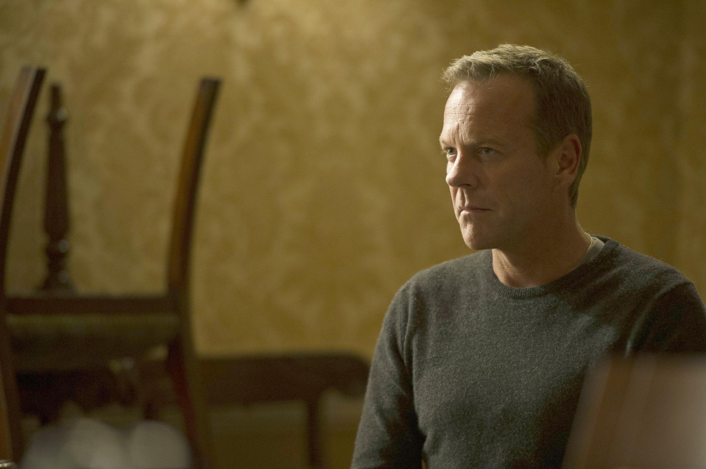 Jack Bauer (Kiefer Sutherland) waits to meet President Heller in 24: Live Another Day Episode 5