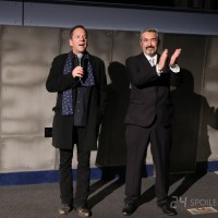 Kiefer Sutherland and Jon Cassar at 24: Live Another Day premiere screening in NYC