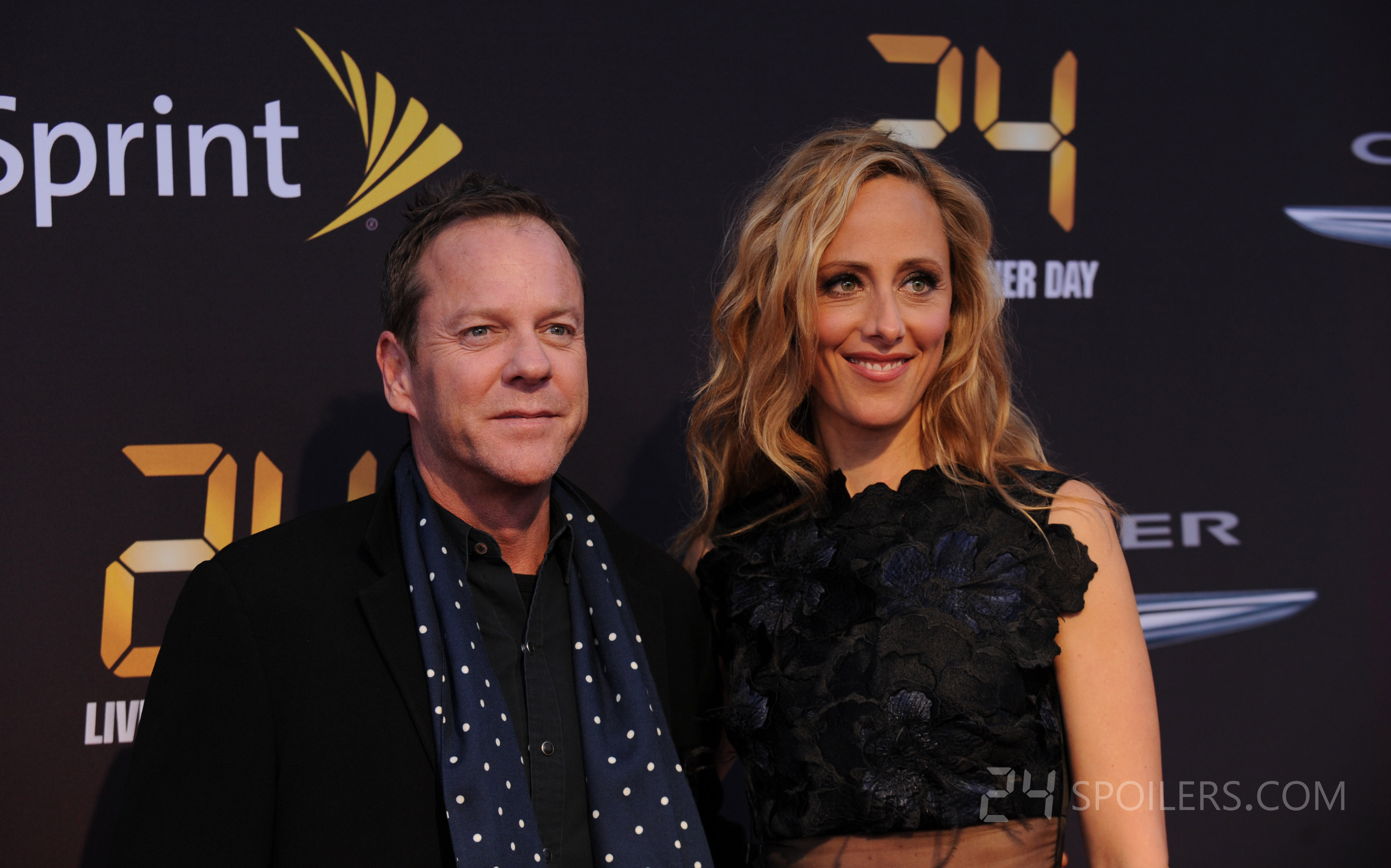 Kiefer Sutherland and Kim Raver at 24: Live Another Day ...