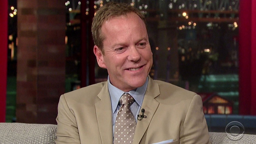 Kiefer Sutherland on Letterman