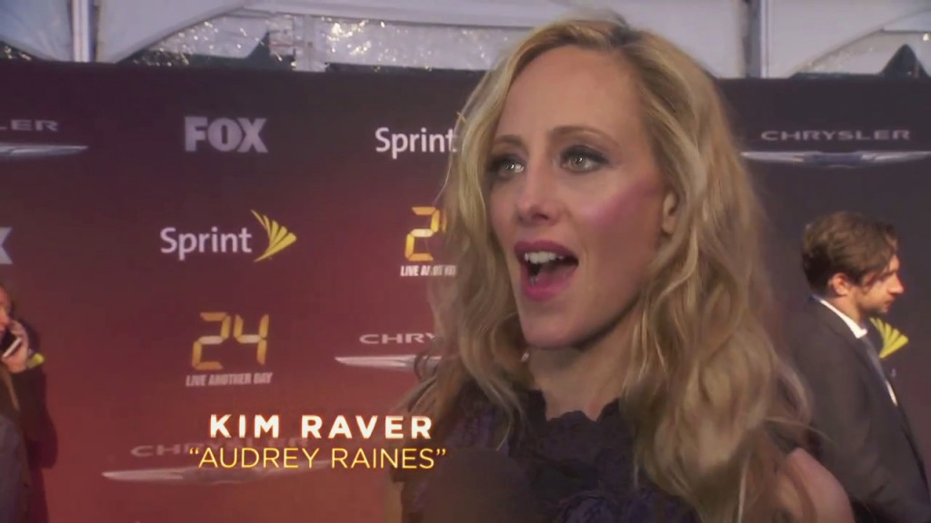 Kim Raver at 24: Live Another Day World Premiere - Interview