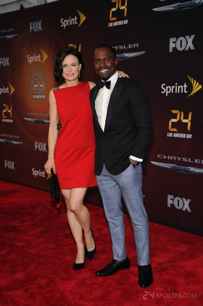 Mary Lynn Rajskub and Gbenga Akinnagbe at 24: Live Another Day premiere screening