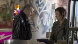 Adrian Cross (Michael Wincott) and Chloe O'Brian (Mary Lynn Rajskub) in 24: Live Another Day Episode 5