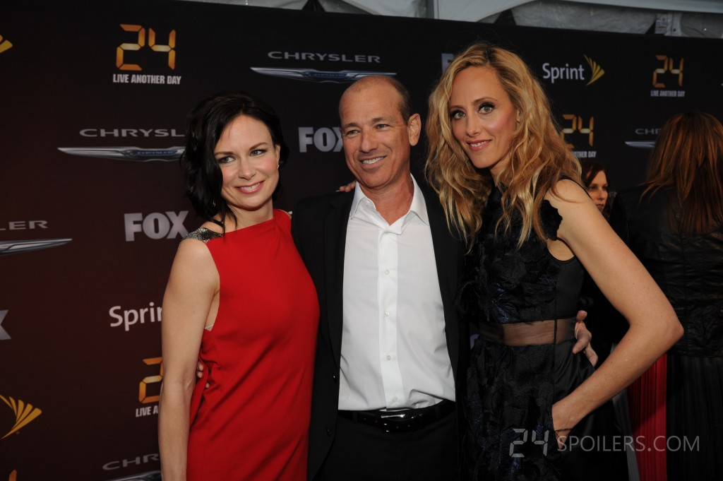 Mary Lynn Rajskub, Howard Gordon, and Kim Raver at 24: Live Another Day premiere