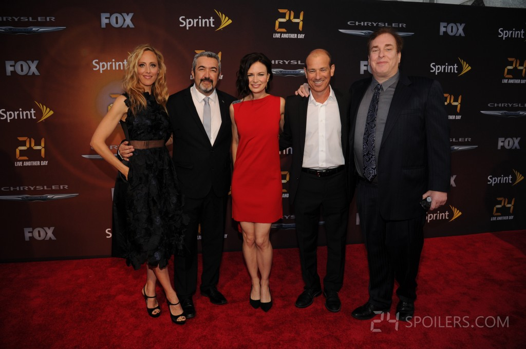 Kim Raver, Jon Cassar, Mary Lynn Rajskub, Howard Gordon, David Fury at 24: Live Another Day premiere
