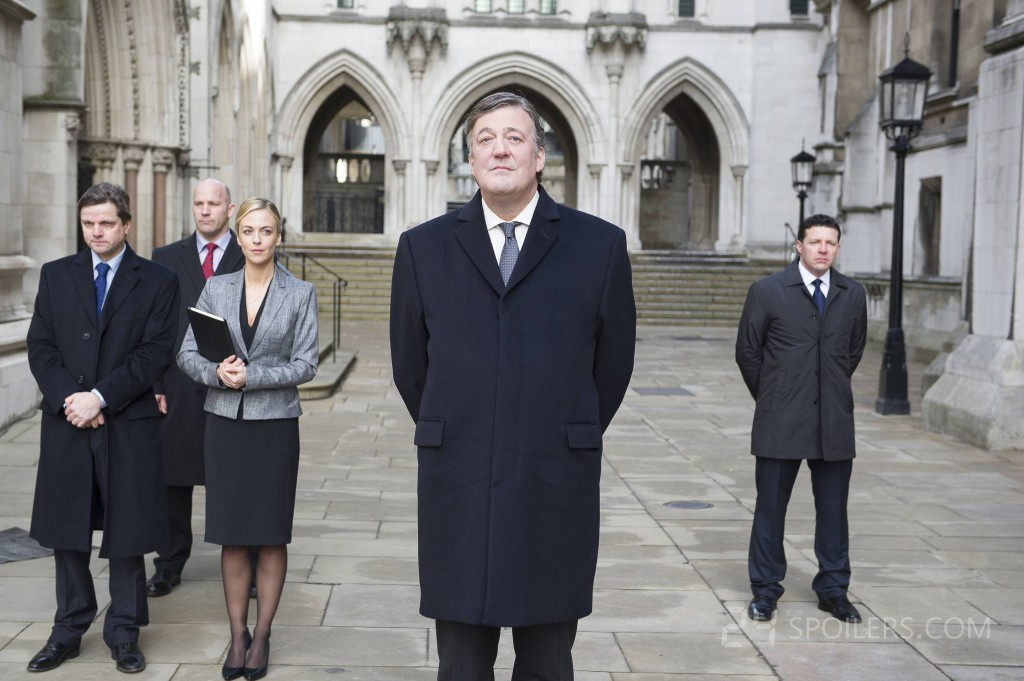 Stephen Fry as British Prime Minister Davies in 24: Live Another Day Episode 3