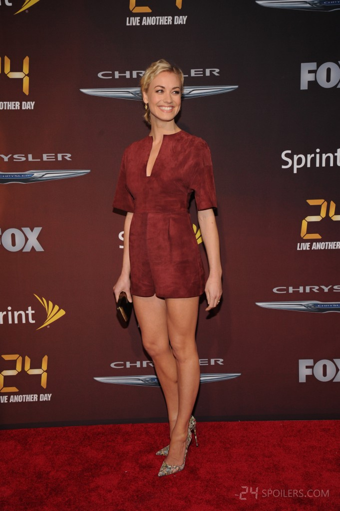 Yvonne Strahovski attends 24: Live Another Day premiere screening in NYC