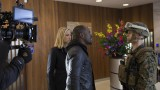 Behind the scenes of 24: Live Another Day Episode 4 - Yvonne Strahovski and Gbenga Akinnagbe