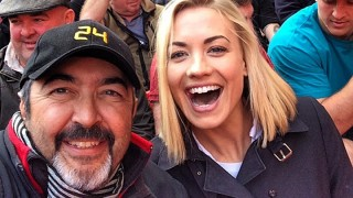 Cassar and Strahovski at Wembley Stadium