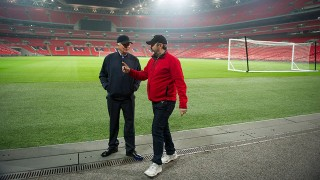 William Devane and Jon Cassar at Wembley Stadium