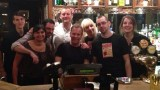 Kiefer Sutherland and 24 crew wrap party at Hare and Hounds Pub
