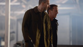Belcheck (Branko Tomovic) and Jack Bauer (Kiefer Sutherland) in 24: Live Another Day Episode 7