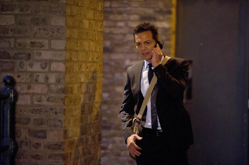 Steve Navarro (Benjamin Bratt) makes a call in 24: Live Another Day Episode 9