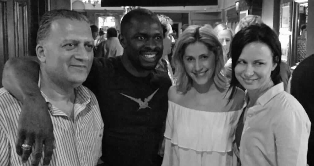 Gbenga Akinnagbe and Mary Lynn Rajskub at 24: Live Another Day Wrap Party