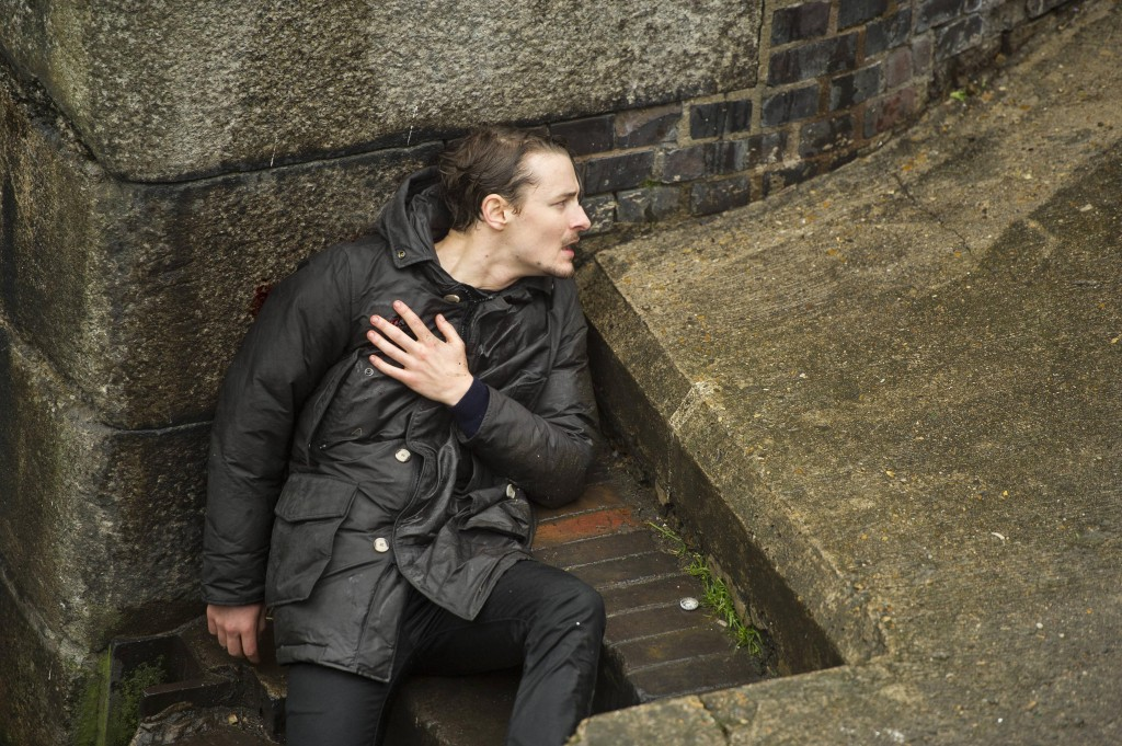 Jordan Reed (Giles Matthey) looks for his assailant in 24: Live Another Day Episode 8