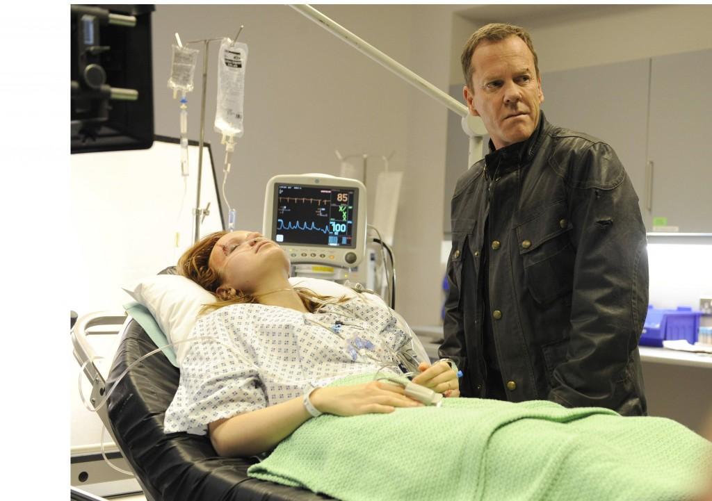Jack Bauer interrogates Simone (Emily Berrington) in 24: Live Another Day Episode 7
