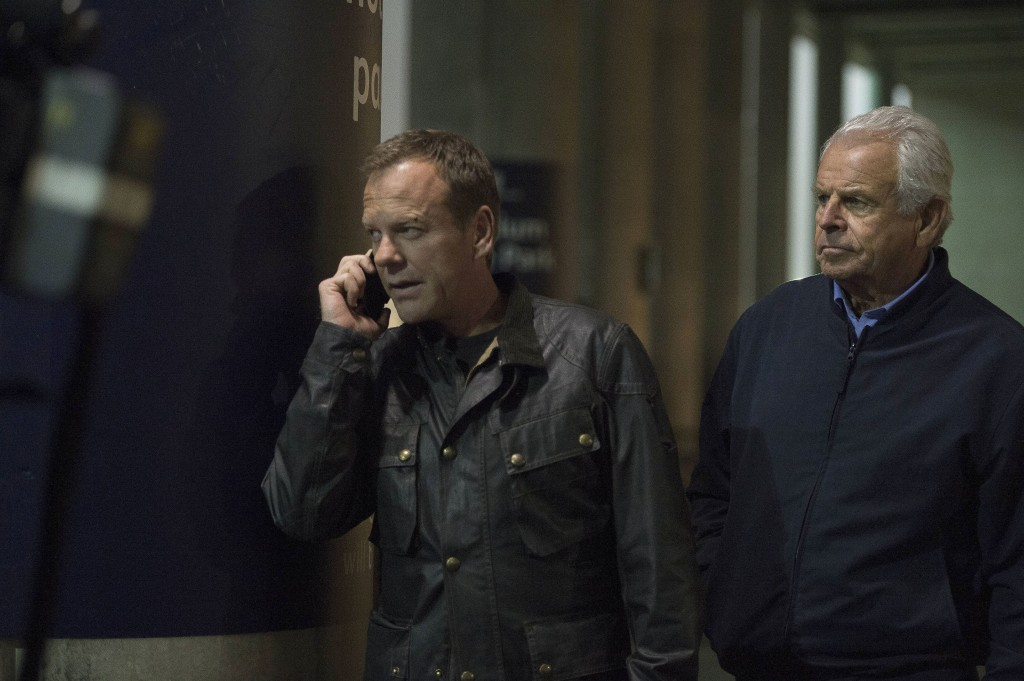 Jack Bauer (Kiefer Sutherland) and President Heller (William Devane) fool Margot in 24: Live Another Day Episode 9
