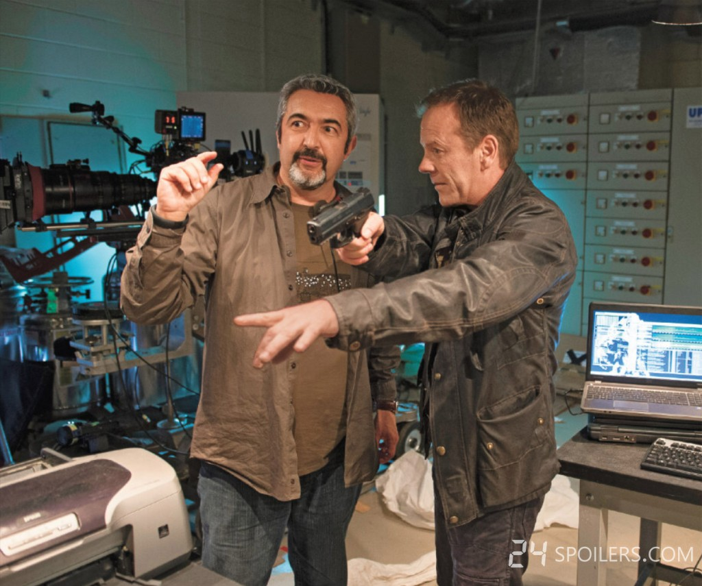 Jon Cassar directing Kiefer Sutherland in 24: Live Another Day