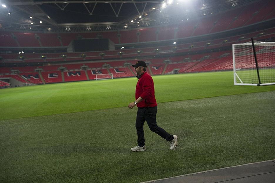 24: Live Another Day Director Jon Cassar walks around Wembley Stadium