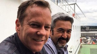 Kiefer Sutherland and Jon Cassar on final day of 24: Live Another Day filming