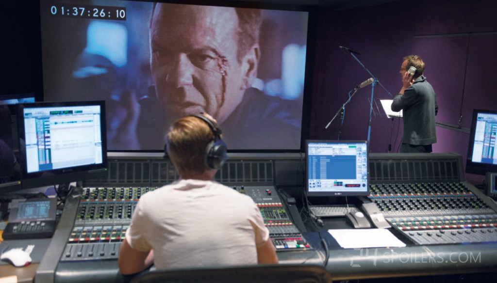 Kiefer Sutherland does ADR for 24: Live Another Day