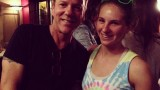 Kiefer Sutherland with stunt performer Casey Michaels