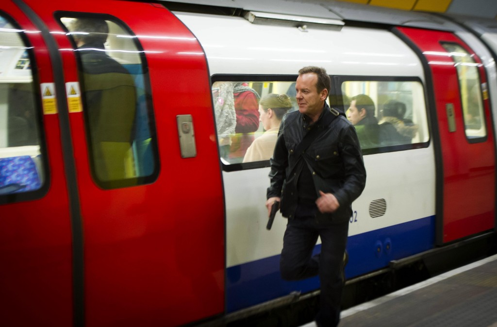 Jack Bauer (Kiefer Sutherland) chases Cross in 24: Live Another Day Episode 10