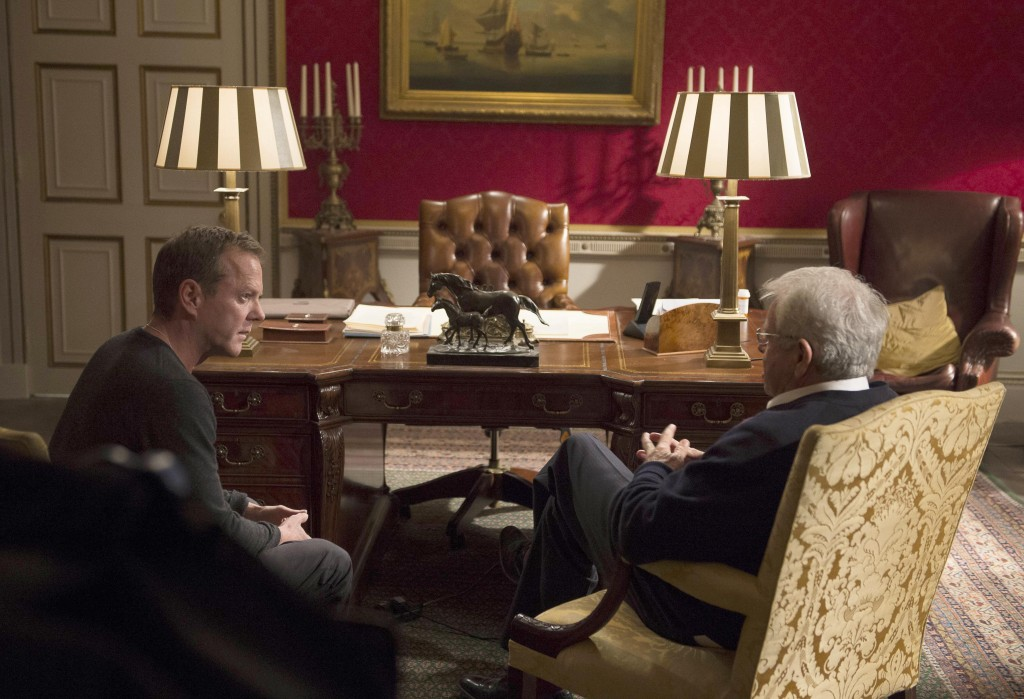 Jack Bauer (Kiefer Sutherland) meets with President Heller (William Devane) in 24: Live Another Day Episode 6