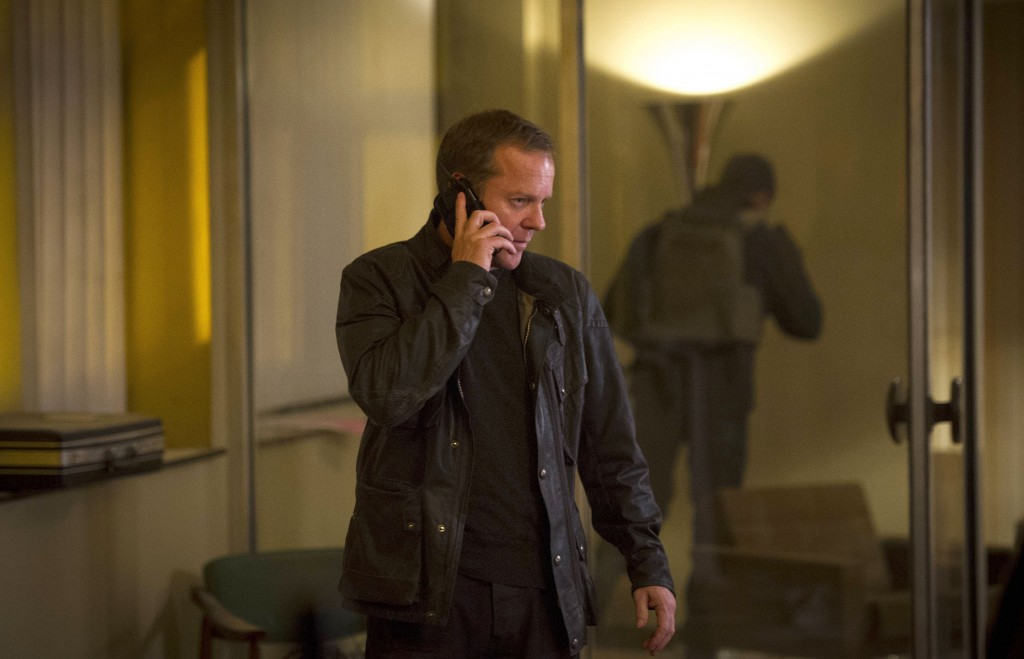 Jack Bauer (Kiefer Sutherland) assesses the situation in 24: Live Another Day Episode 9