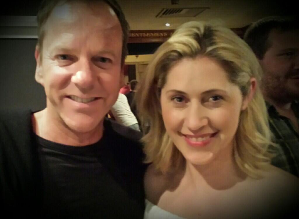 Kiefer Sutherland and Kya Garwood at 24: Live Another Day Wrap Party