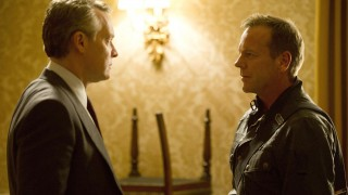 Jack Bauer (Kiefer Sutherland) confronts Mark Boudreau (Tate Donovan) in 24: Live Another Day Episode 6