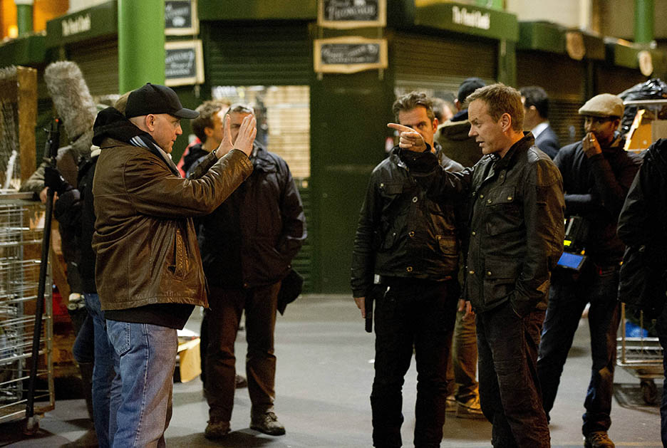 Director Milan Cheylov works with Kiefer Sutherland in 24: Live Another Day Episode 10