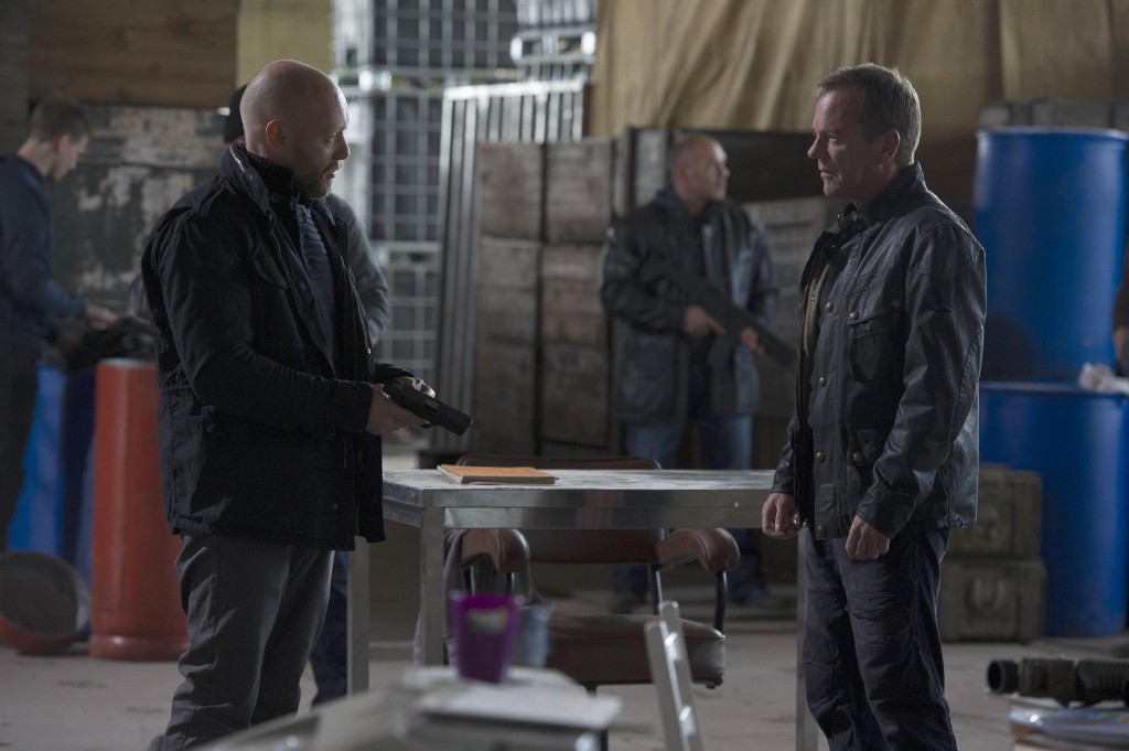Karl Rask questions Jack Bauer in 24: Live Another Day Episode 6