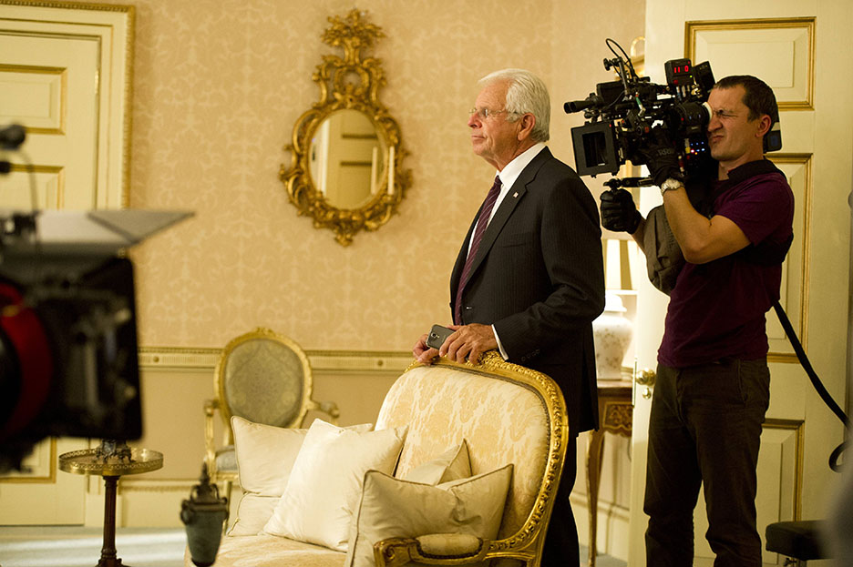 William Devane behind the scenes of 24: Live Another Day Episode 8