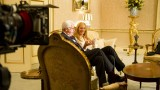 William Devane and Kim Raver behind the scenes of 24: Live Another Day Episode 8