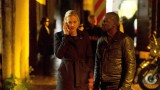 Kate Morgan (Yvonne Strahovski) and Erik Ritter (Gbenga Akinnagbe) at crime scene in 24: Live Another Day Episode 9