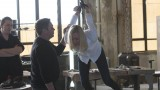 Kate Morgan (Yvonne Strahovski) chained and dangling in 24: Live Another Day Episode 6