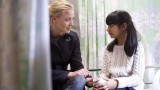 Kate Morgan (Yvonne Strahovski) speaks with Yasmin (Nikita Mehta) in 24: Live Another Day Episode 7
