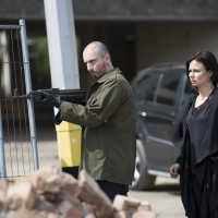 Belcheck (Branko Tomovic) guards Chloe O'Brian (Mary Lynn Rajskub) in 24: Live Another Day Finale